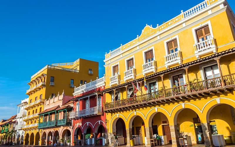 Cartagena, Columbia buildings Celebrity Cruises