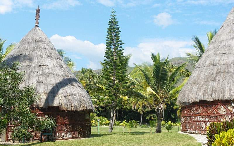 Traditional Hut in the South Pacific