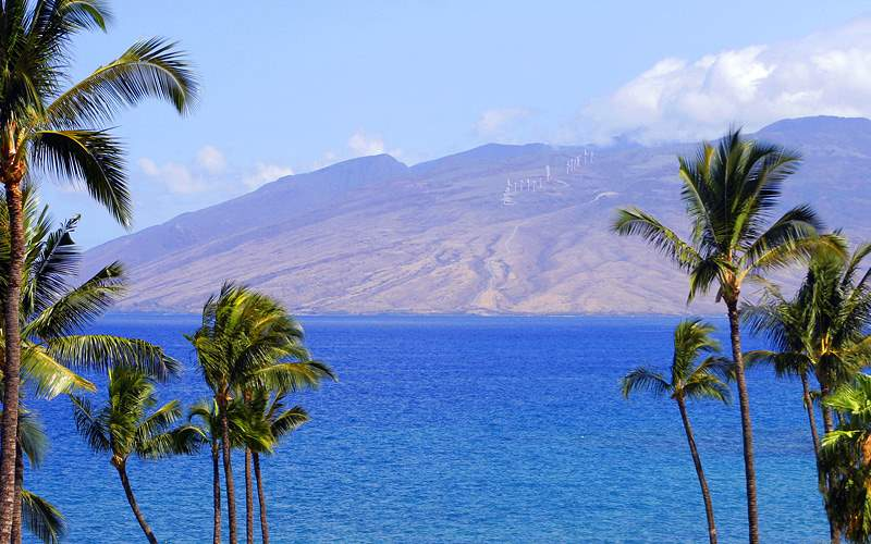 View of Hawaiian Island Celebrity Cruises