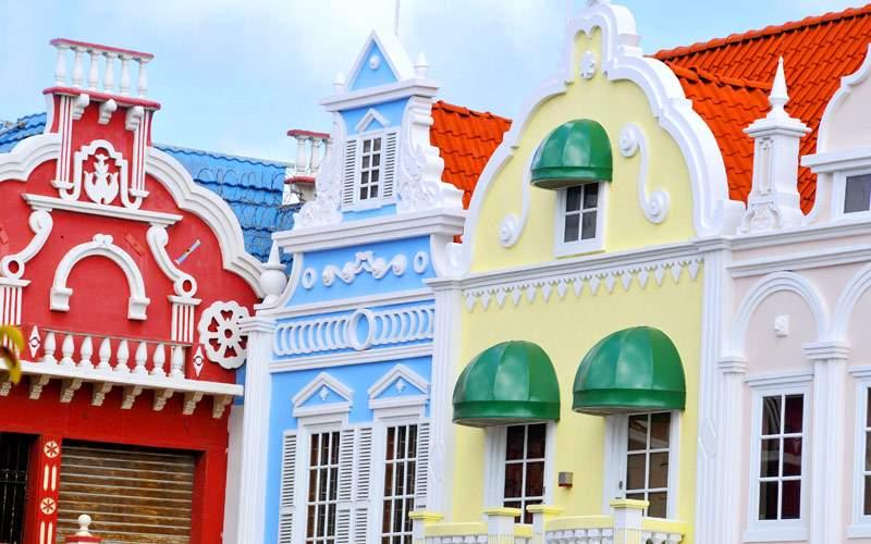 Center Square in Oranjestad Aruba Caribbean