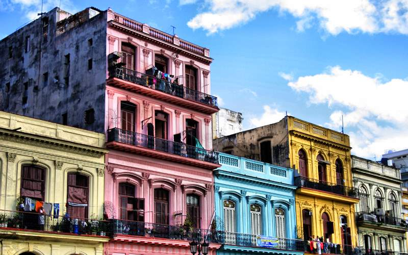 Colorful Houses in Cuba