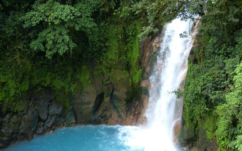Waterfall and Lagoon in Costa Rica