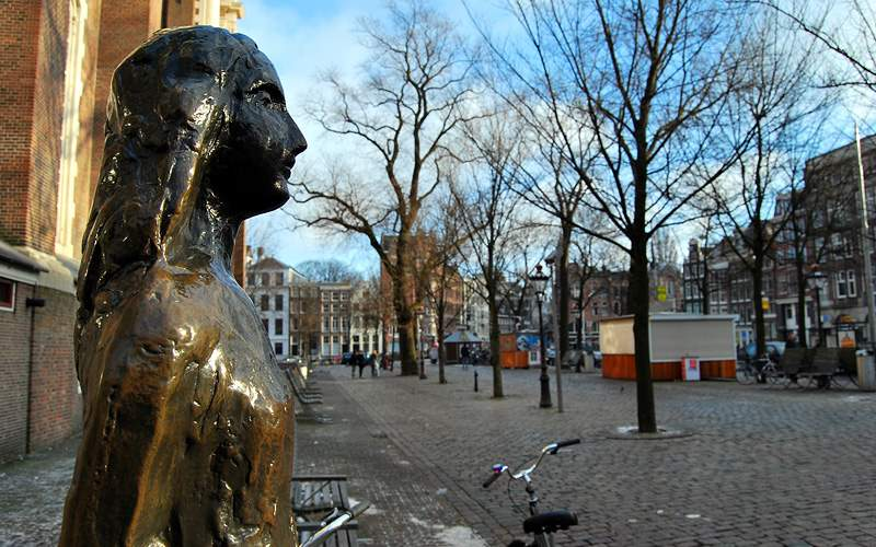 Anne Frank Statue in Amsterdam Crystal Cruises