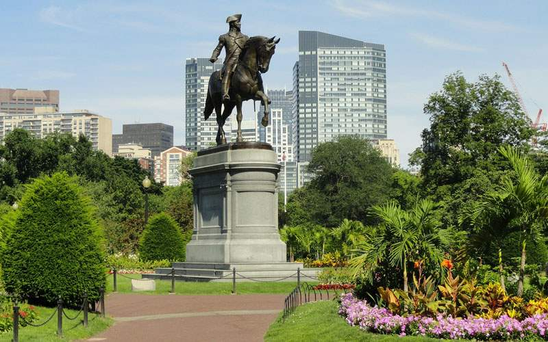 Boston Common in Massachusetts