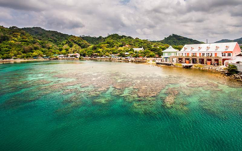 Coast of Roatan Honduras Caribbean Crystal Cruises