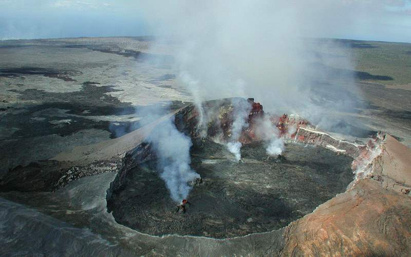 Kilauea volcano crater Hawaii Crystal Cruises