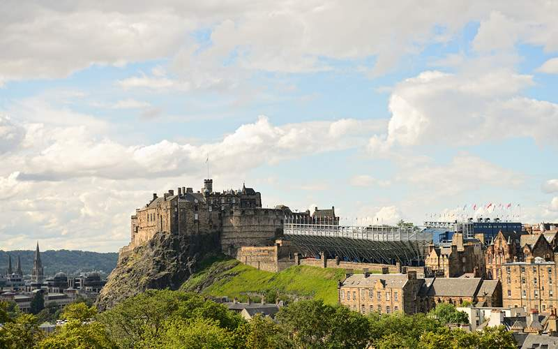 Edinburgh Castle Scotland Crystal Cruises Europe