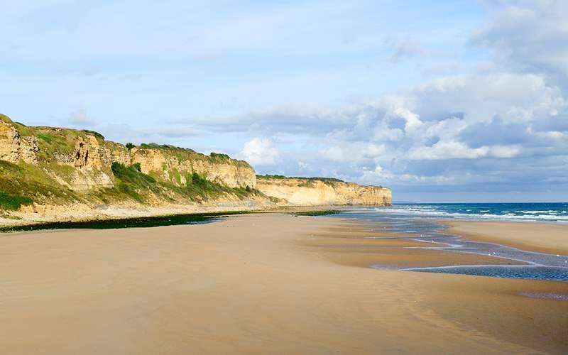 Omaha Landing beach in Normandy Crystal Cruises