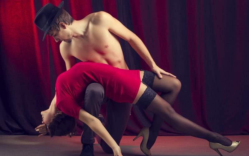 Antartica Couple dancing the tango Crystal Cruises