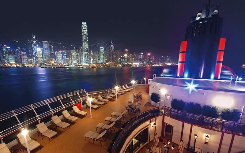 Cunard ship cruising Hong Kong Cunard Line Asia