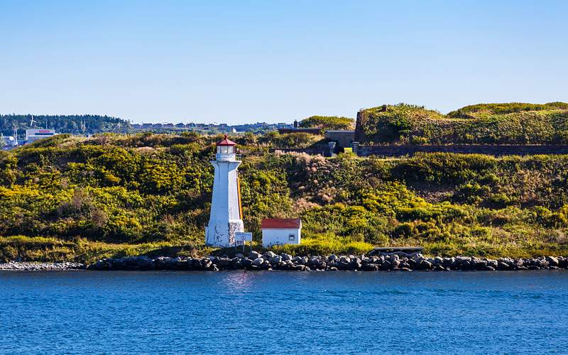 Lighthouse in Halifax, Nova Scotia Cunard Line