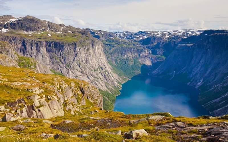 Norwegian landscape Trolltunga Cunard Line