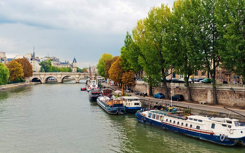 Seine River in Paris, France Cunard Line World