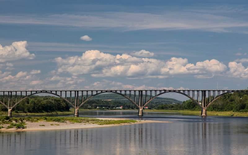St. John River Hartland New Brunswick Cunard Line