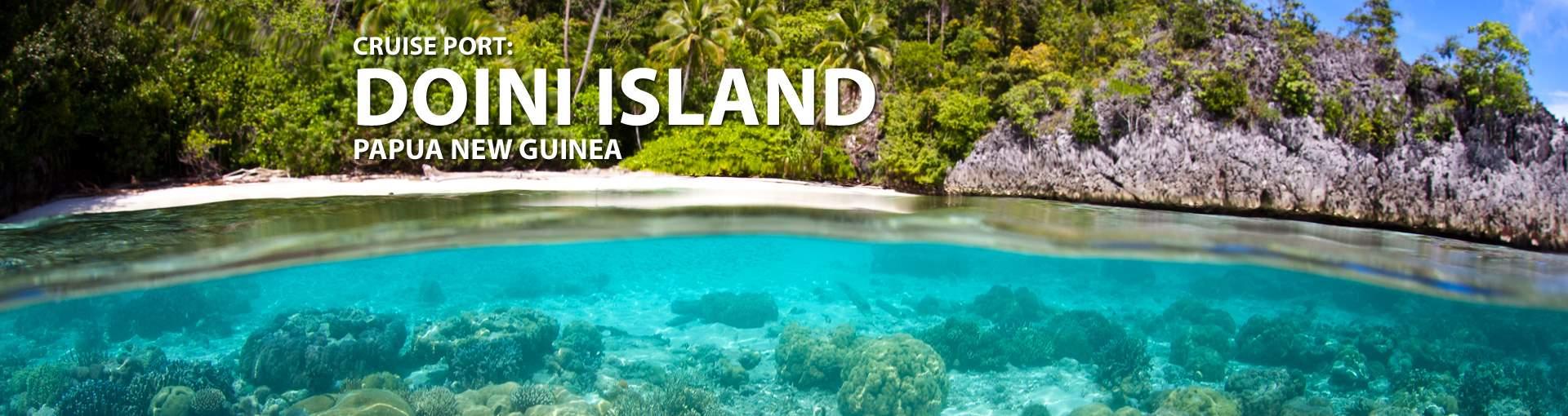 Cruises to Doini Island, Papua New Guinea