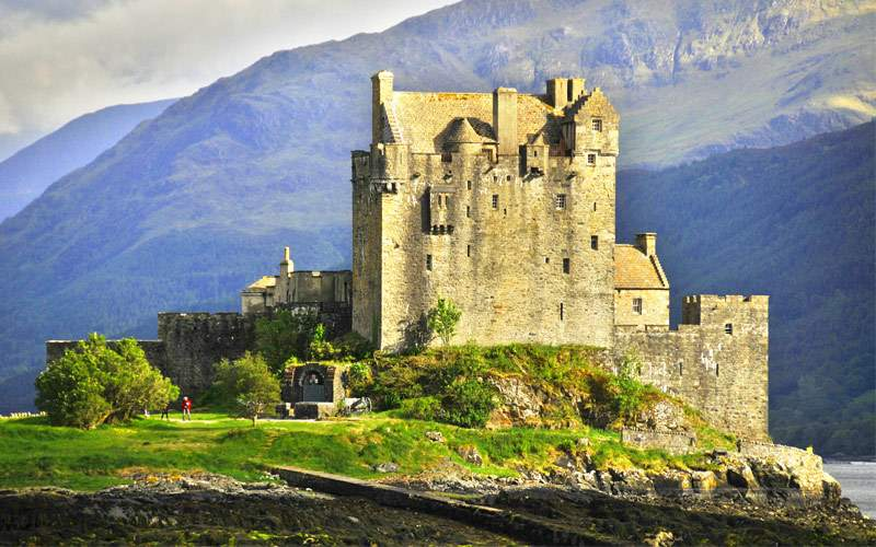 Eilean Donan Castle is a small island in Loch Duic