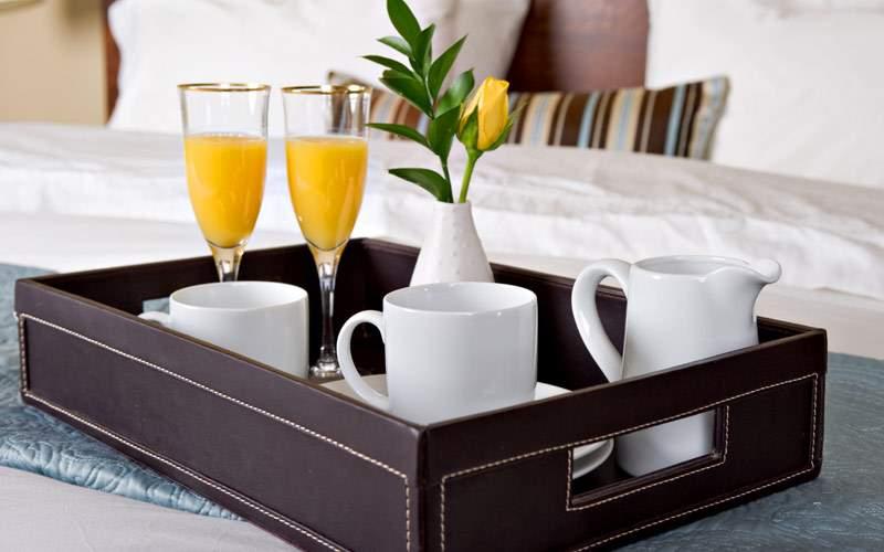 Enjoy breakfast in bed