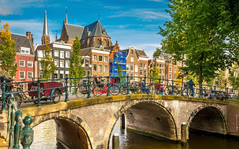 Europe Cruisetours, Canal in Amsterdam