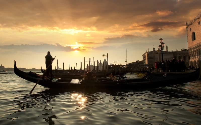 Europe Cruisetours, Gondolier in Venice, Italy