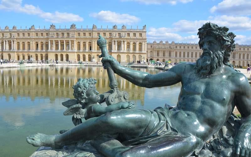Sculptures in Versailles near Paris in France