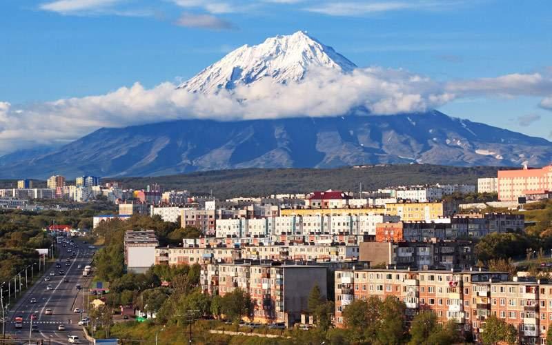 Far East Russia the City Landscape of Petropavlovs