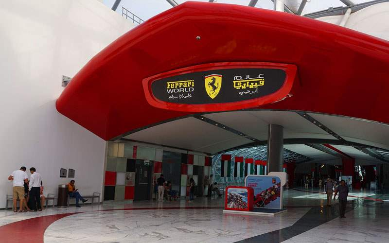Ferrari World in Abu Dhabi, UAE