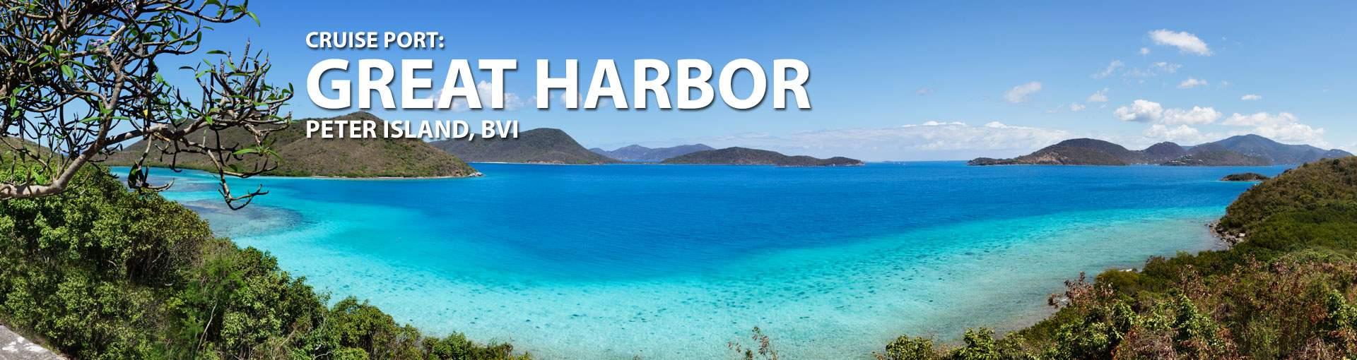 Cruises to Great Harbor, Peter Island, Bvi