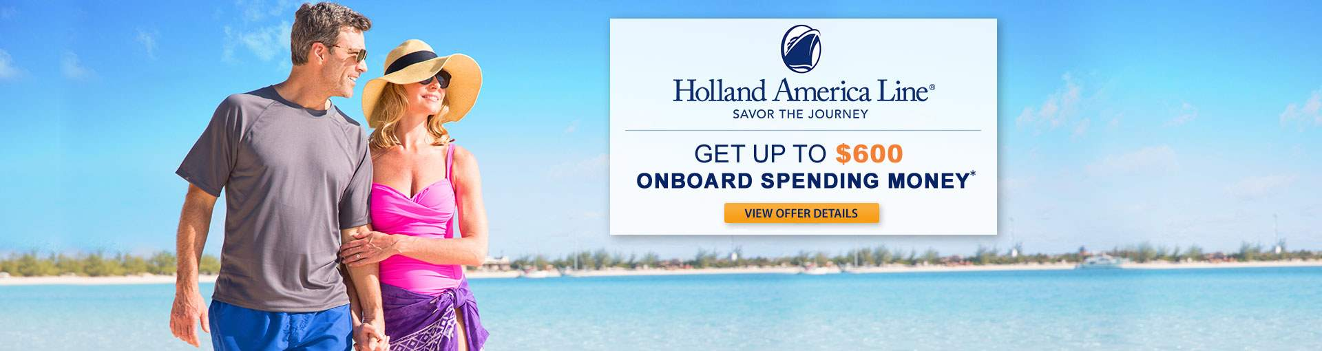 Holland America: Free Onboard Spending Money