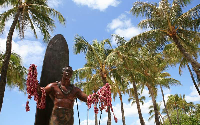 Statue of Duke Kahanamoku, Honolulu Waikiki