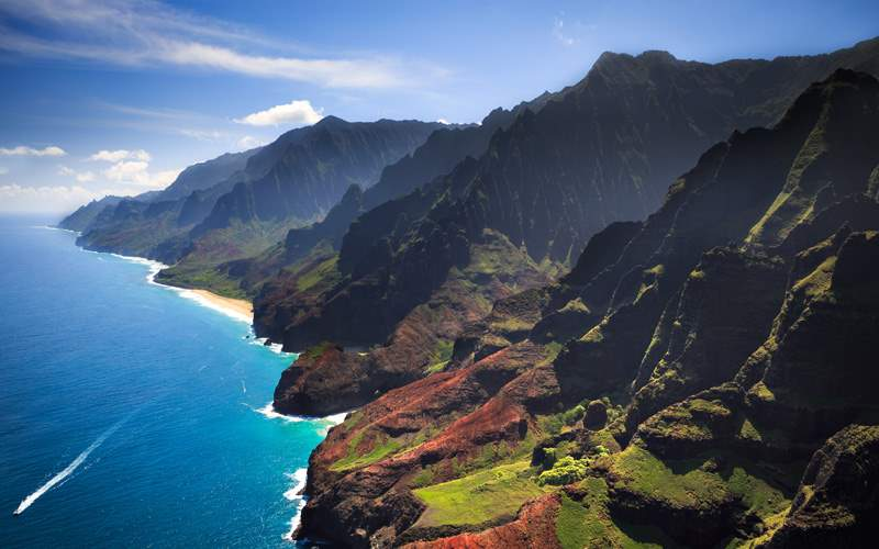 Na Pali Coastline on the Hawaiian island of Kauai