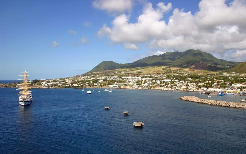 port of Basseterre in St. Kitts Holland America