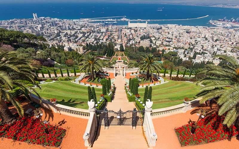 Africa Bahai temple in Haifa Holland America Line