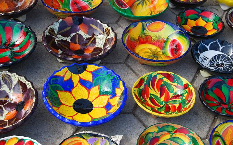 locally crafted Mexican bowls Holland America Line