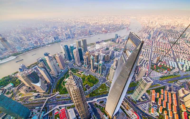 Shanghai China, Bund (Pudong) Holland America Line