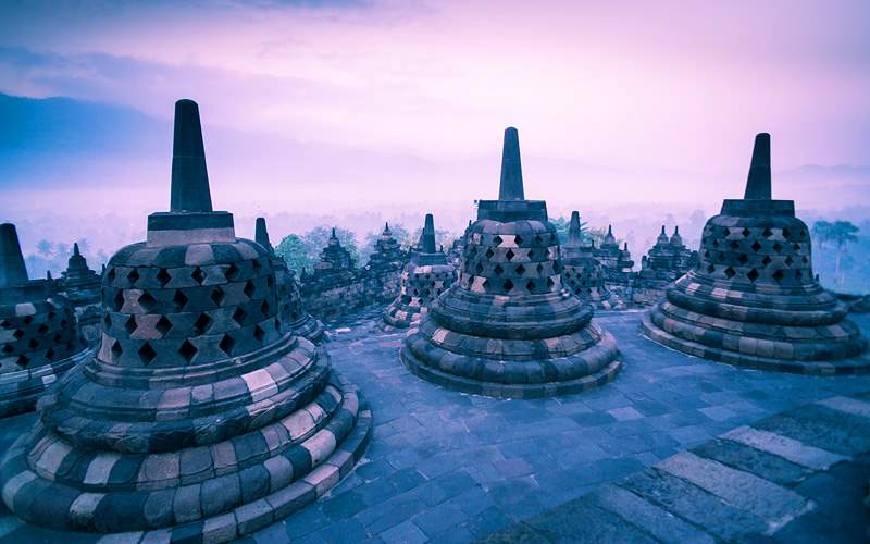Borobudur Temple Java Indonesia Holland America