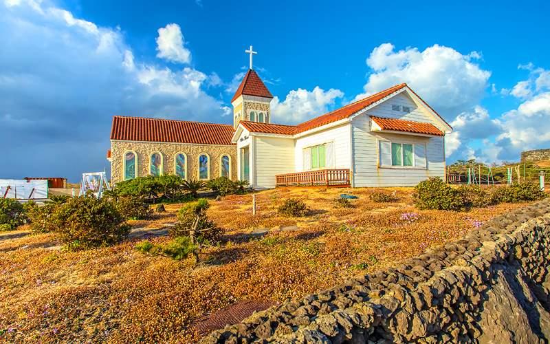 Church in Seopjikoji Mount Jeju Holland America