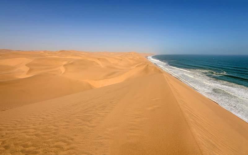 Coastline in Namib desert Africa Holland Ameria
