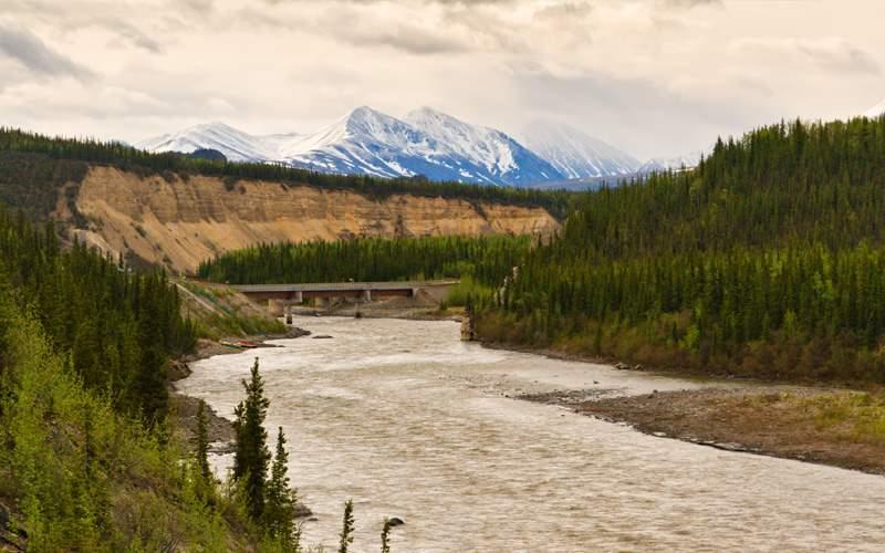 The Nenana River in Denali, Alaska