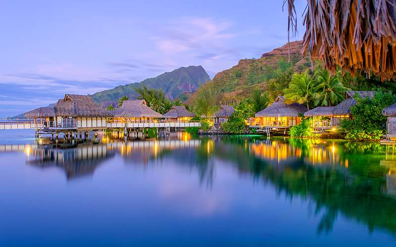 Bungalows in French Polynesia Holland America