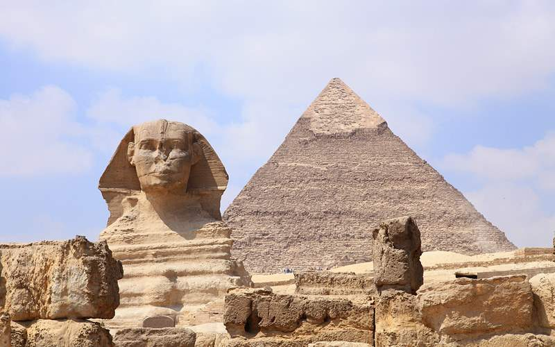 Sphinx and Pyramid in Giza Holland America Line