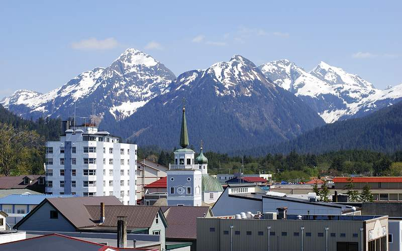 downtown Sitka Alaska Holland America Line