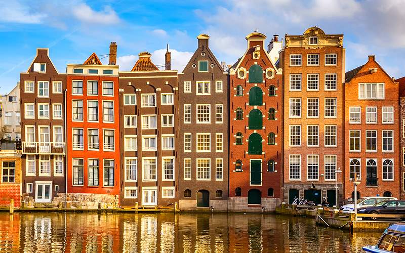 Buildings in Amsterdam Netherlands Holland America