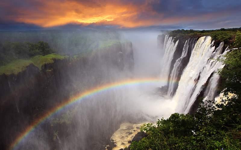 Victoria Falls Zambia Africa Holland America World