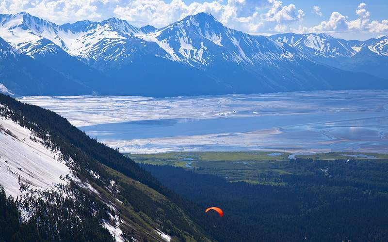 View from Mount Alyeska Alaska Holland America
