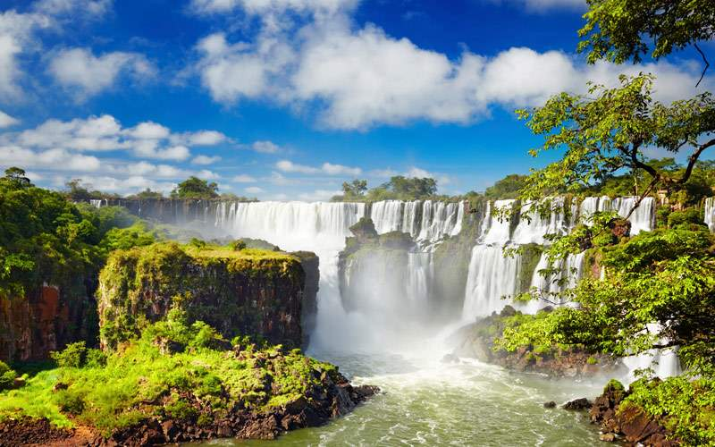 Iguazu Falls largest in the world Brazil Argentina