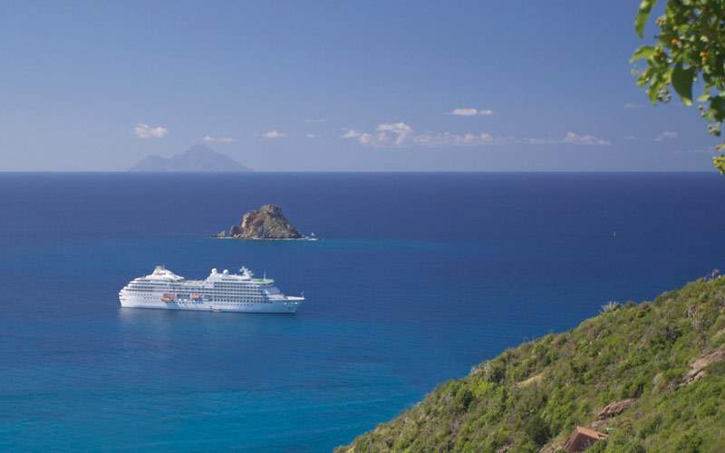 Regent Seven Seas Navigator sailing the Caribbean
