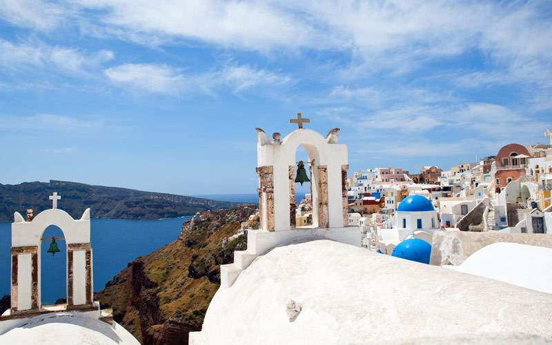 The rooftops of Greece