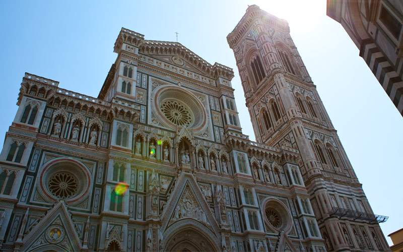 One of many cathedrals in Florence, Italy