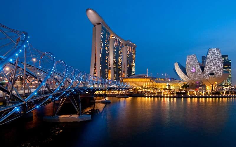 The Singapore skyline