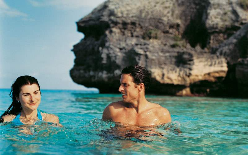 Swimming in the waters of Bermuda
